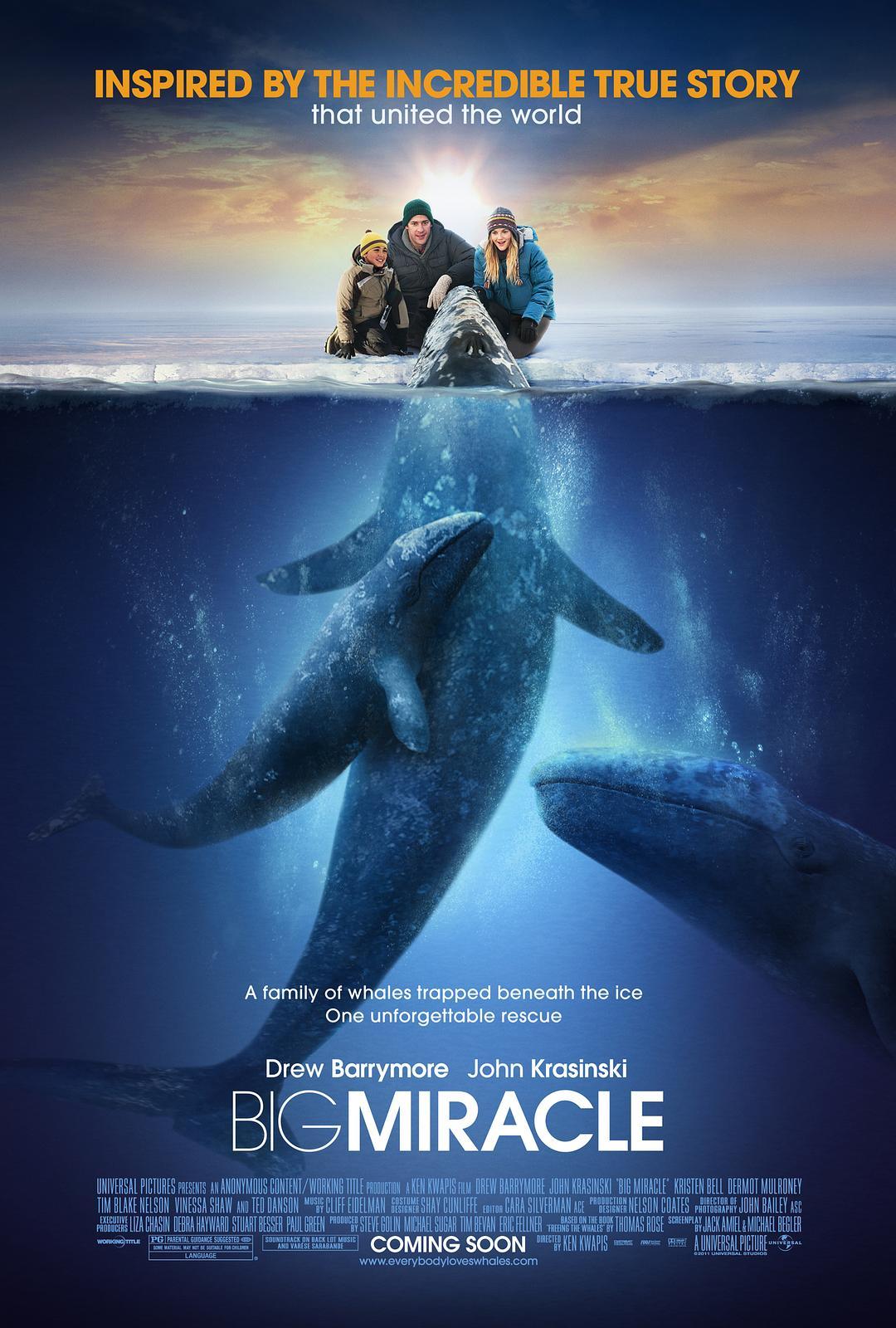 鲸奇迅雷下载 1080P 蓝光原盘下载   鲸奇之旅(台) / 人人都爱鲸鱼 / 巨大奇迹 2012 Big Miracle 37.8G插图(1)